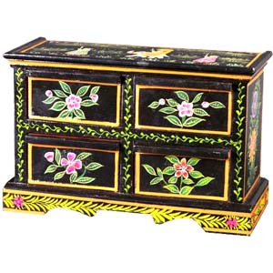 Handpainted Wooden Chest of Drawers