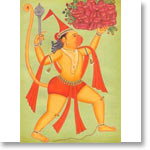 Hanuman: Miniature Painting