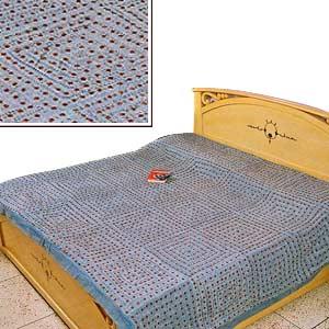 Blue Glitter: Handmade Bedspread