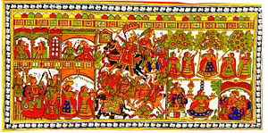 Indian art on cloth