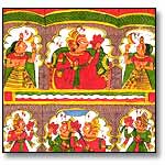 Indian painting on cloth