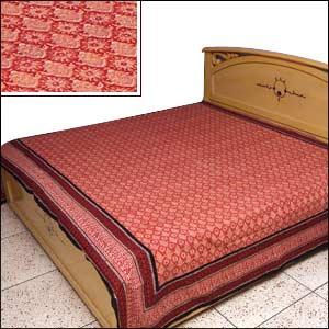 Jaipuri Hand Block Print Bed Spread