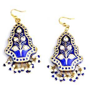 Blue Shine Lacquer Earrings
