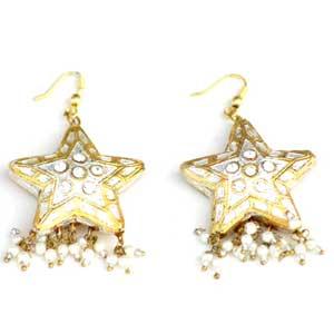 Golden Sparkle Lacquer Earrings