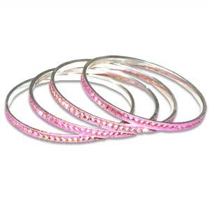 Jhilmil Chuddi 4 Set Pink
