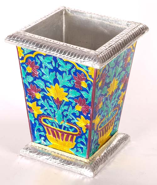 Meenakari Metal Vase