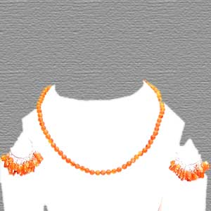 Orange gemstone jewelry set