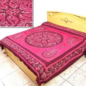 Pink Batik Bedspread