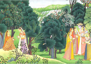 Radha Longing: Miniature Painting