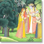 Radha Longing Miniature Painting