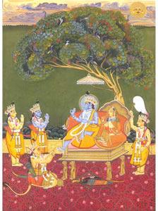 Ram Darbar Miniature Painting Handmade Miniature