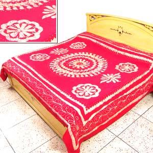 Red Batik Bedspread