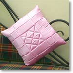 Satin Pink Cushion Cover