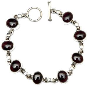 Silver Black Onyx Bracelet Black Onyx Silver Bracelet Sterling