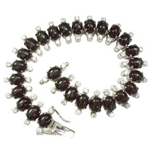 Silver Bracelet Black Star Zircon