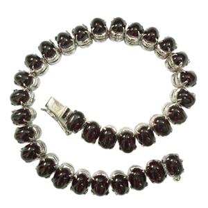 Silver Bracelet Black Star