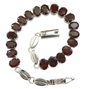 Silver Bracelet Garnet