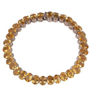 Silver Bracelet Golden Topaz