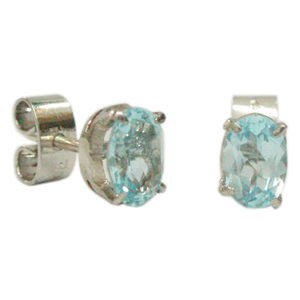 Silver Earring Aquamarine