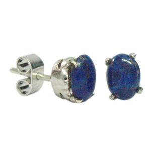Silver Earring Lapis Lazuli