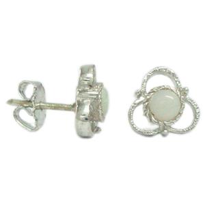 Silver Earring Opal