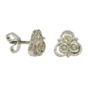 Silver Earring Peridot