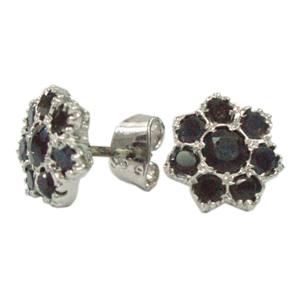 Silver Earring Sapphire