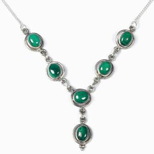 Silver Malachite Necklace
