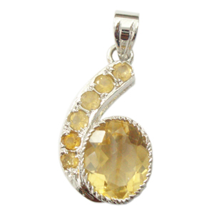 Silver pendant golden topaz stylish silver pendant golden topaz silver pendant golden topaz aloadofball Images