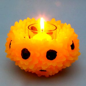 Craft Ideas Diwali on Sunflower Candles Jpg