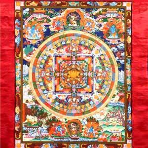 Hand Painted Shakyamuni Mandala Thangka