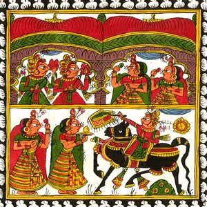 Traditional cloth painting-Phad Painting