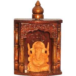 Embossed Ganesha Temple