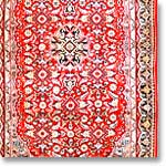 Red Pattern: Wool Carpet Rug