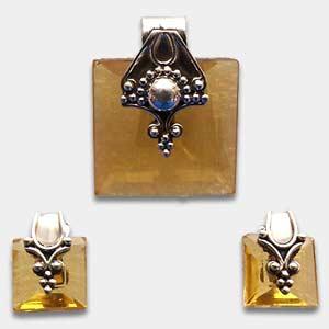 Yellow gemstone jewelry