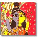 Ardhnareshwar-Madhubani Painting