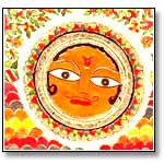 Blessing of Sun-Madhubani Painting