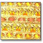 Contentment of life-Madhubani Painting