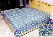 Blue Cotton Bed Spread