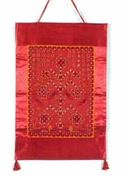 Red Silk Wall Hanging