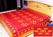 Red Cotton Bed Spread