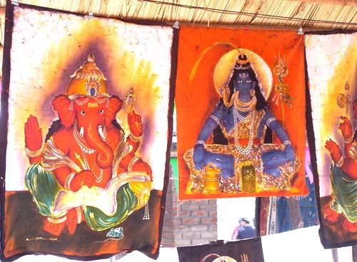 Lord Ganesha and Shiva Painting