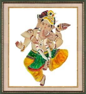 Diwali Glass Paintings, Deepavali Paintings, Glass