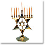 Star shaped nine-candle stand
