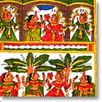 Folk art on cloth-Phad Painting