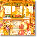 Jahangir presents Prince Khurram with a turban ornament