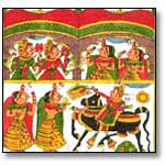 Traditional cloth painting